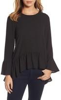 Gibson Women's Ruffle Asymmetrical Blouse