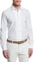 Loro Piana Andre Jersey Sport Shirt, White