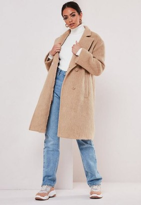 Missguided Sand Short Hair Formal Coat