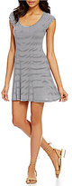 Billabong Same Love Striped Fit and Flare Dress
