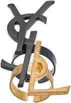 Saint Laurent deconstructed Monogram rings