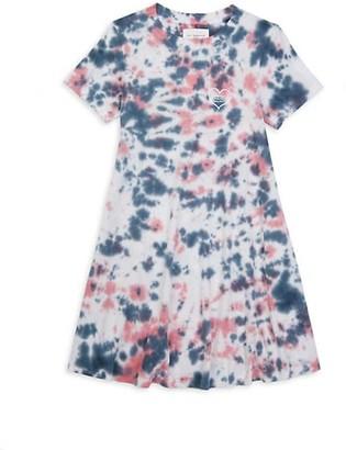 Sol Angeles Little Girl's & Girl's Marble-Print Cotton T-Shirt Dress