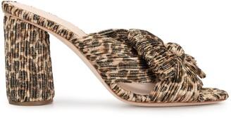 Loeffler Randall Penny leopard pattern mules