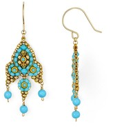 Miguel Ases Small Beaded Drop Earrings