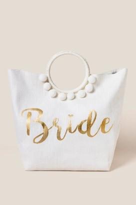 francesca's Bridal Circle Handle Tote - Ivory