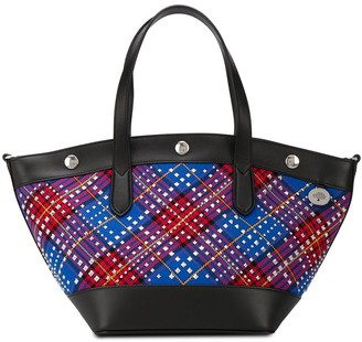 Mulberry Camden tartan shopper bag