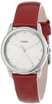 Timex Women's T2P0852M Red Patent Leather Strap Watch