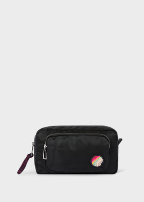 Paul Smith Women's Black Canvas Make-Up Pouch With 'Swirl' Patch