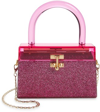 Edie Parker Miss Mini Acrylic Top Handle Bag