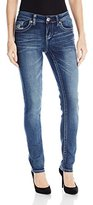 Seven7 Women's Extreme Stretch E-Loop Back Pocket Skinny Jean