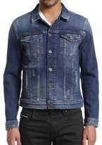 Mavi Jeans Frank Ripped & Repaired Comfort Denim Jacket