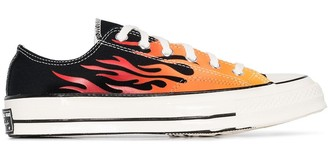 Converse Chuck 70mm flame-print low-top canvas sneakers