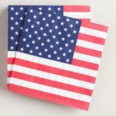 United States Flag Beverage Napkins 20 Count