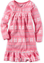 Carter's Fair Isle-Print Sleep Shirt, Little Girls (2-6X) & Big Girls (7-16)
