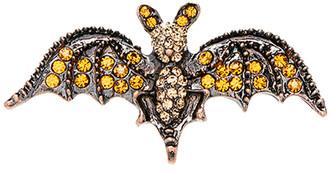 Bubbly Bows Women's Brooches and Pins - Orange Rhinestone Bat Brooch
