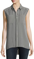 Vince Camuto Demure Striped Sleeveless Shirt