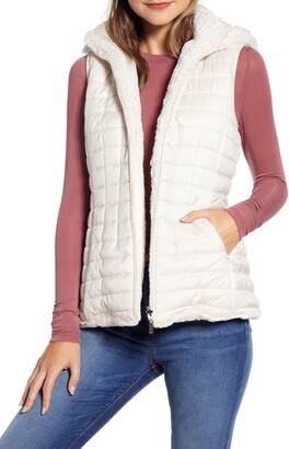 Gallery Reversible Hooded Faux Fur Vest