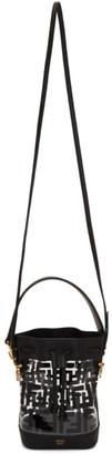 Fendi Transparent and Black PU Mini Mon Tresor Bag