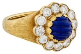 Buccellati 18K Diamond & Lapis Cocktail Ring