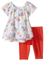 Splendid Littles All Over Print with Solid Leggings Set Girl's Active Sets
