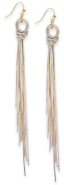 Thalia Sodi Two-Tone Multi-Chain Knotted Linear Drop Earrings, Created for Macy's