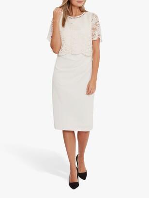 Gina Bacconi Kora Moss Overtop Crepe Dress