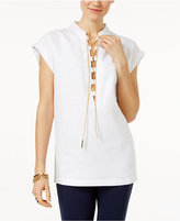 MICHAEL Michael Kors Linen Lace-Up Top