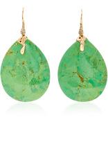 Lucifer Vir Honestus Green Turquoise and Diamond Earrings