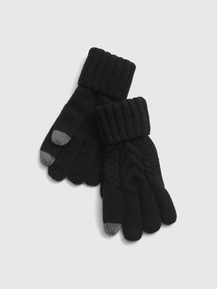 Gap Kids Smartphone Cable Knit Gloves