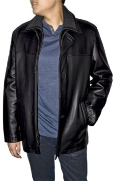 Victory Sportswear Retro Leather Men's Double Collar Car Coat
