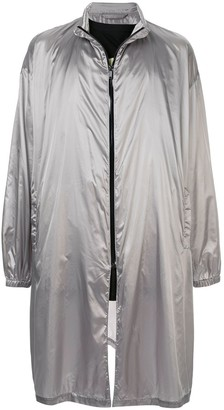 Raf Simons metallic raincoat