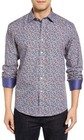 mens bugatchi shaped fit check sport shirt