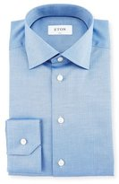 Eton Slim-Fit Herringbone Dress Shirt, Blue