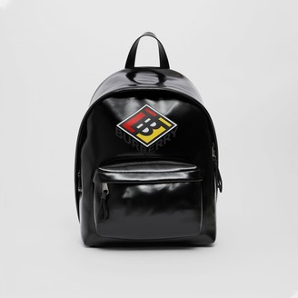 Burberry Logo Graphic Coated Canvas Backpack