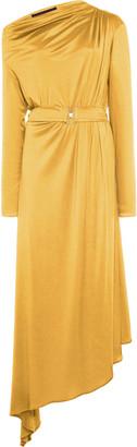 Martin Grant Asymmetric Draped Jersey Dress