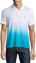 Original Penguin Ombre Cotton Polo Shirt, Tie Blue