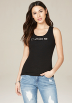 Bebe Logo Back Lace Up Tank