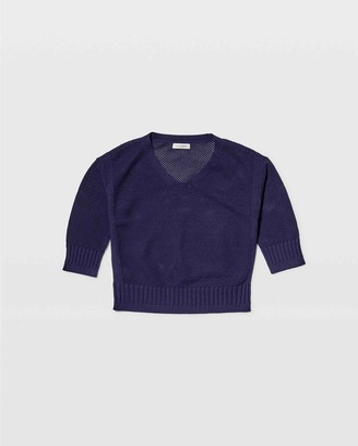 Club Monaco Novelty Stitch V-Neck Sweater