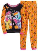 Girls 4-10 My Little Pony Rainbow Dash & Pinkie Pie Halloween Tee & Bottoms Pajama Set