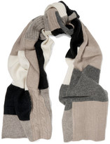 Madeleine Thompson Christobel Color-block Cashmere Scarf - Gray