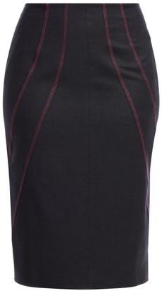 Marina Rinaldi, Plus Size Cedrata Flannel Wool Pencil Skirt