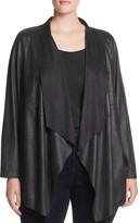 Bagatelle Plus Draped Faux Leather Jacket