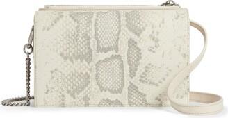 AllSaints Claremont Snake Embossed Leather Crossbody Bag