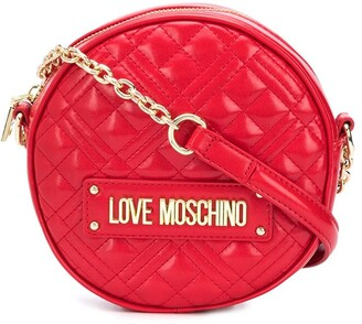 Love Moschino Quilted Round Shoulder Bag