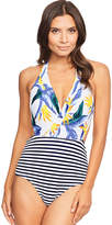 Figleaves Vice Versa Cut Out Halter Swimsuit