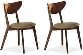 Alva Set of 2 Dining Chairs, Direct Ship