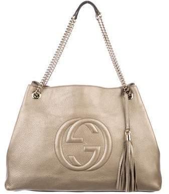 19e4b02c1e Gold Chain Strap Shoulder Bag - ShopStyle