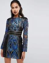 boohoo Premium Long Sleeve Sequin Dress