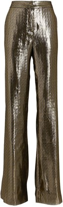 Derek Lam 10 Crosby Lame Wide-Leg Pants