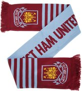 West Ham United FC Official Knitted Football Crest Wordmark Scarf